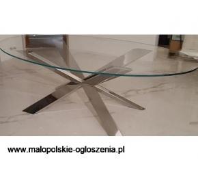 Oryginalny stół ze szklanym blatem